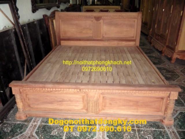 Giường gỗ hương ,Giường ngủ chữ X GN10