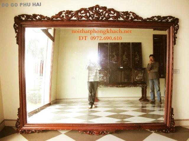 Đồ gỗ Đồng kỵ Gương treo tường GT8