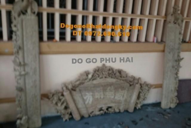 Bộ cuốn thư câu đối thờ gia tiên go dong ky HP30