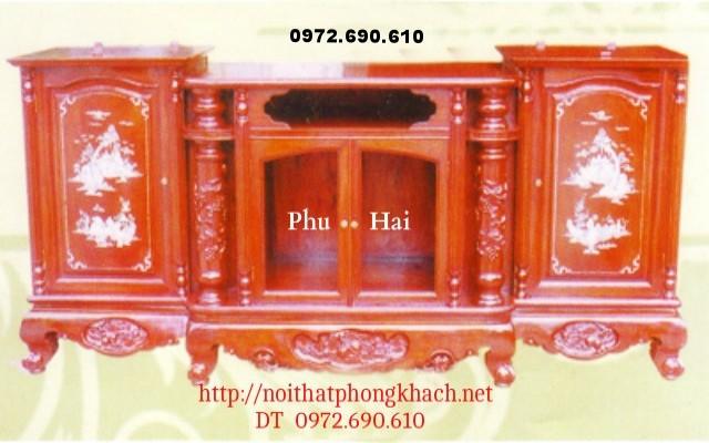 Kệ ti vi gỗ hương khảm ốc TVH5