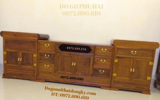 Tủ để Tivi đẹp gỗ hương cho ngôi nhà đẹp KTV39