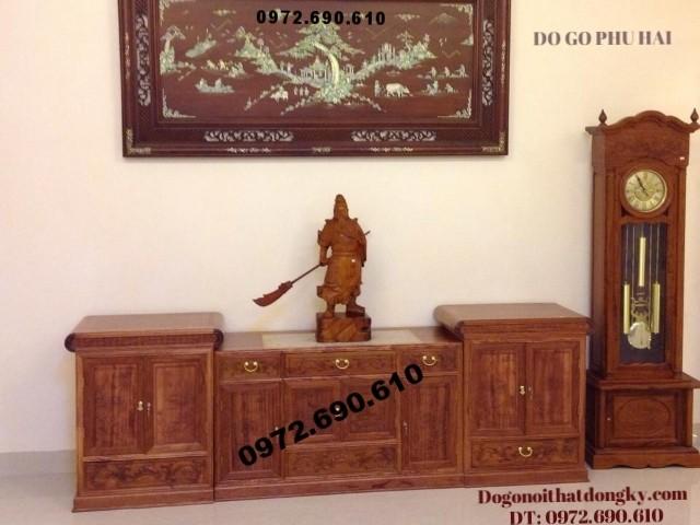 Kệ để Tivi Kiểu hiện đại gỗ hương KTV40