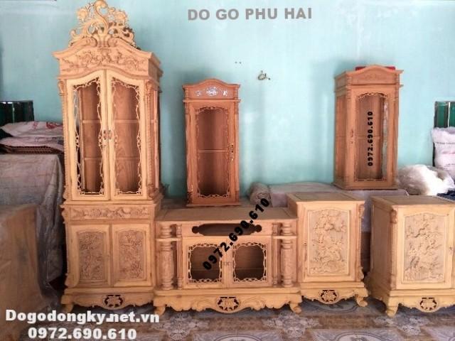 Tủ kệ Tivi gỗ, Kệ gỗ bày đồ phòng khách đẹp KTV.66