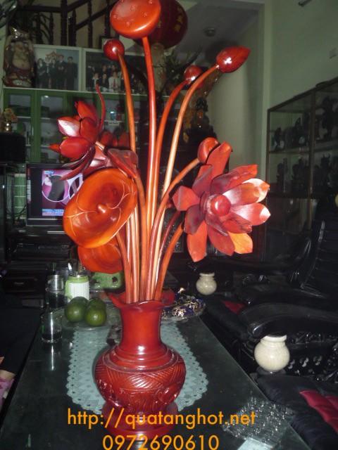 Quà tặng trang trí Hoa gỗ HG17