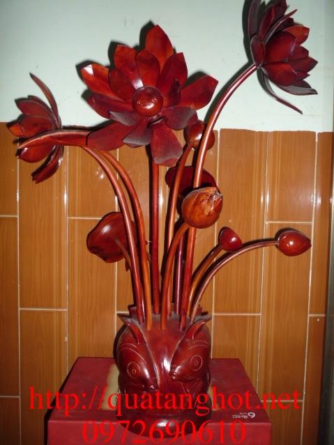 Quà tặng hot Đồ gỗ mỹ nghệ Hoa gỗ HG02