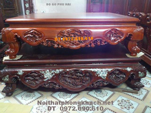 Sập gỗ gụ ,Đồ gỗ Phú Hải SG12