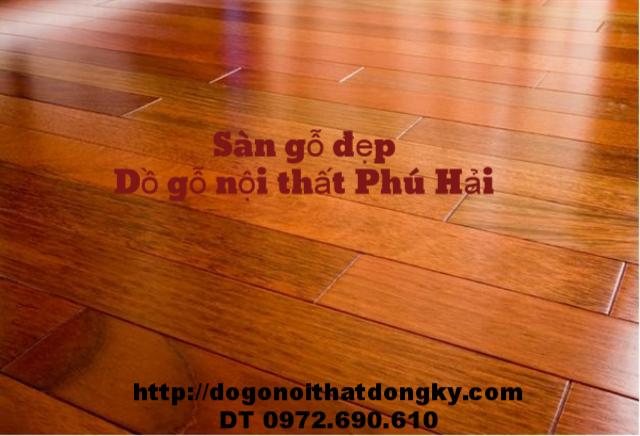 Sàn gỗ Căm Xe ghép thanh, Sàn gỗ đẹp SG1