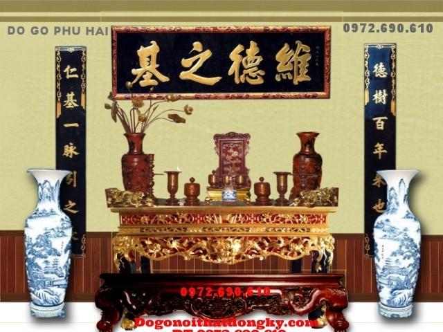 Bàn thờ gia tiên, bàn thờ đẹp đồ gỗ phú hải ST<>55