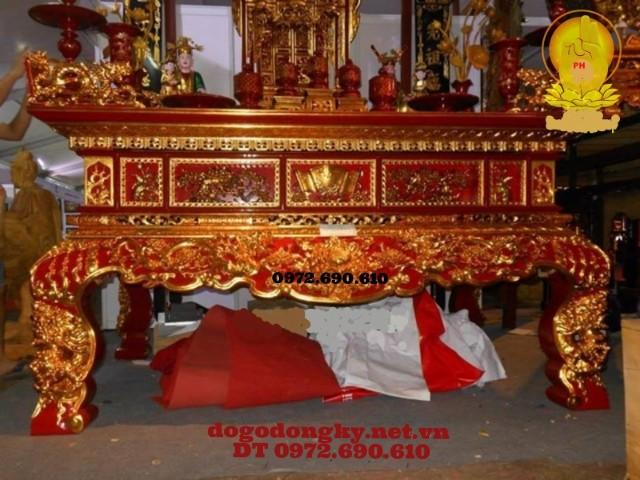 Bàn thờ Phật sơn son thếp vàng STV6
