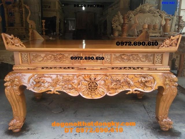 Bàn thờ chạm dơi thọ gỗ mít ,dogodongky.net.vn ST48