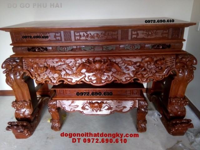 Bàn thờ tứ linh, đồ gỗ mỹ nghệ Đồng Kỵ ST49