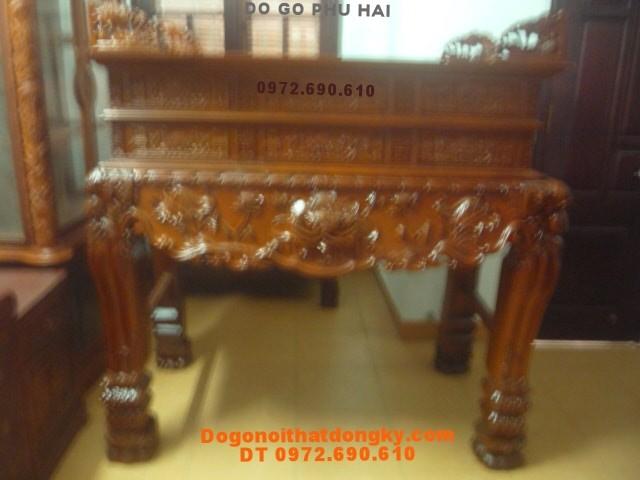 Bàn thờ đẹp , Sập thờ gỗ gụ thước lỗ ban BT53