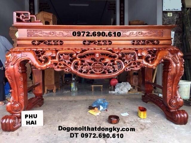 Mẫu bàn thờ gia tiên, Sập thờ do go dong ky ST76