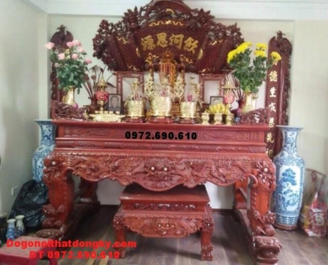 Bàn thờ đẹp gỗ gụ mật dogonoithatdongky.com ST-85