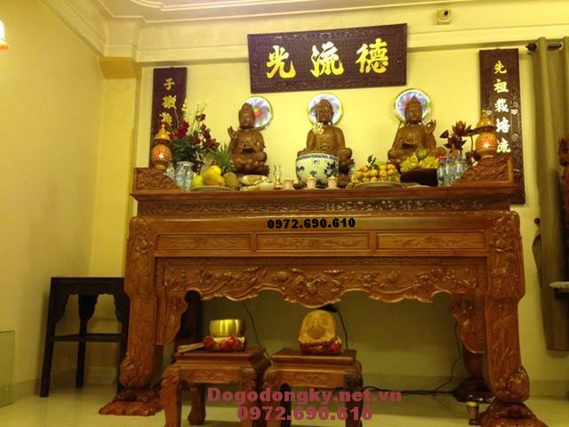 Mẫu bàn thờ Phật đẹp