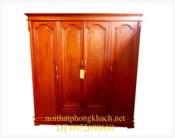 Tủ quần áo gỗ hương 4 Cánh T3B4C4