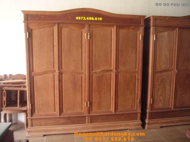 Tủ đựng quần áo 4 buồng 4 cánh T4B06