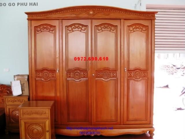 Tủ quần áo ,Tủ áo 4 Buồng đồ gỗ đẹp T4B2