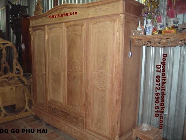 Tủ quần áo gỗ hương ,Tủ áo đẹp 4 Cánh T3B4C5