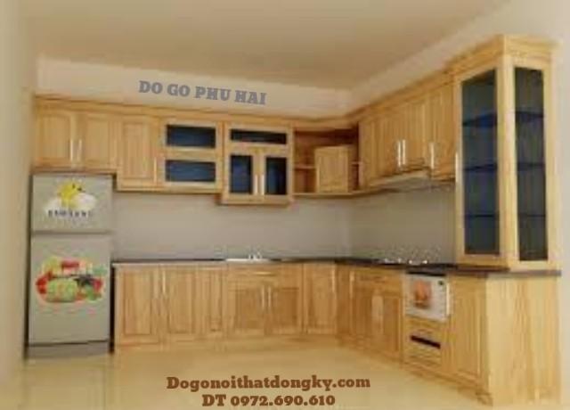 Tu bep, Lắp đặt Tủ bếp sang trọng gỗ pomu TB6