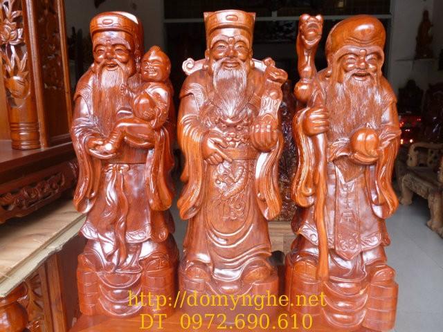 Bộ Tam đa ,Ba Ông Phúc Lộc Thọ gỗ Hương TĐ3