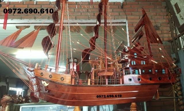Thuyền buồm mỹ nghệ, thuyền gỗ quà tặng phong thủy TB3