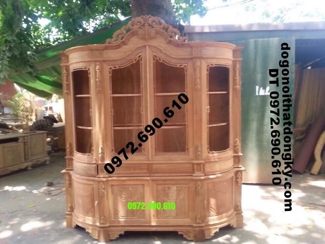 Tủ trưng bày rượu, Tủ Rượu đẹp mẫu cổ điển TR15