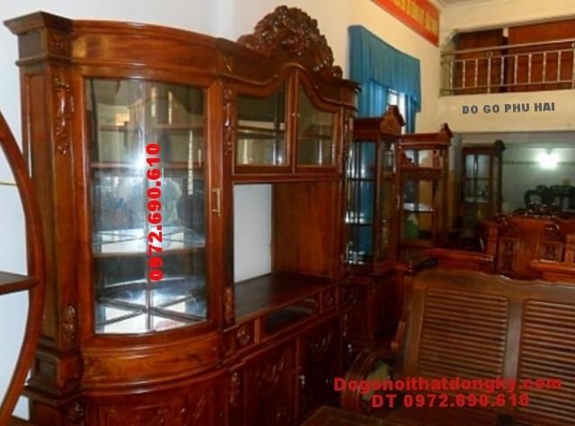 Nơi bán Tủ để rượu đẹp, Tủ rượu gỗ hương TR<>14
