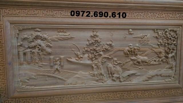 Tranh treo tường bằng gỗ, Tranh Đồng quê T30