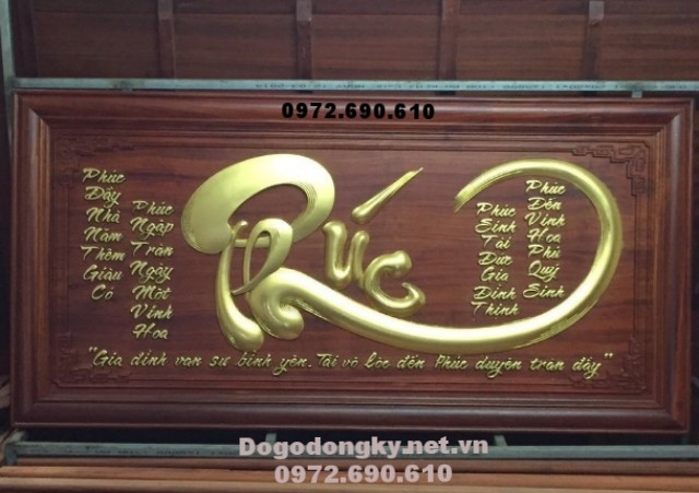 Tranh chu Phuc khac go