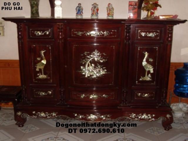 Tủ thờ gỗ gụ khảm ốc Đồ gỗ Đồng Kỵ TT11