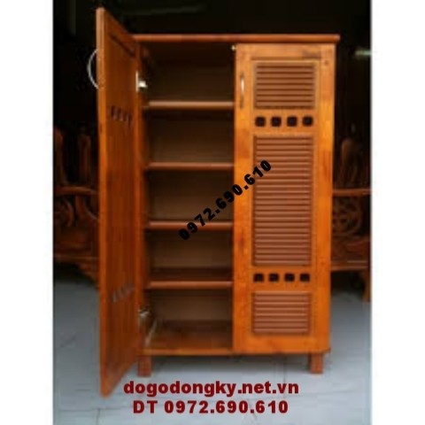 Tủ để giày đẹp, Tủ giày gỗ hương tiện dụng T.G5