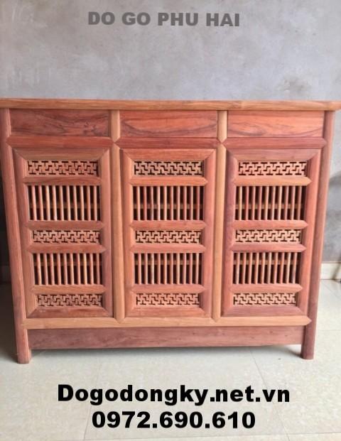 Mẫu tủ để giày đẹp, gỗ gõ mật giá rẻ nhất TG.6