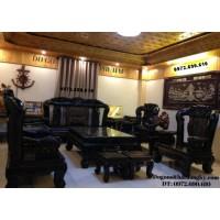 Bàn ghế cho giới đại gia – Bộ bàn ghế gỗ mun quí hiếm