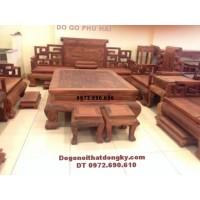 Bàn ghế gỗ hương đẹp kiểu Sơn thủy mẫu đồng kỵ B175