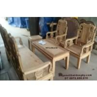 Bộ bàn ghế gỗ gụ đẹp mẫu cổ giá rẻ B.177
