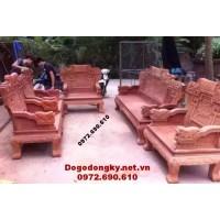 Bộ bàn ghế gỗ hương kiểu mới cho phòng khách đẹp B.183