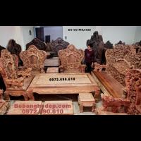 Bộ Bàn Ghế Gỗ Đinh Hương Hàng Đồng Kỵ Kiểu Bát Mã B.211