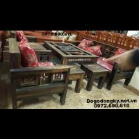 Mẫu bộ bàn ghế đẹp gỗ mun cho phòng khách B.244