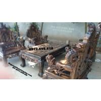 Bộ bàn ghế gỗ mun Cực hiếm kiểu rồng bảo đỉnh B.88