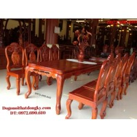 Đồ gỗ đồng kỵ, Bộ bàn ghế phòng ăn bàn chữ nhật BA61