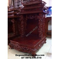 Mẫu Bàn thờ ông địa đẹp gỗ gụ dogodongky.net.vn BTT.16