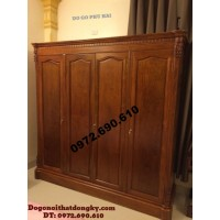 Tủ gỗ để quần áo 4 Buồng 4 Cánh TA7