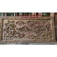 Tranh điêu khắc gỗ mỹ nghệ Tranh bách điểu T19