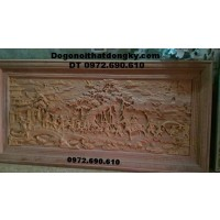 Tranh vinh qui bái tổ, Tranh chạm khắc gỗ T27
