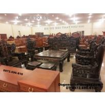 Bộ bàn ghế gỗ mun Kiểu bát mã BM48