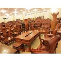 Bộ bàn ghế Đồng Kỵ gỗ hương kiểu quốc triên QT51