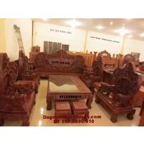 Bộ bàn ghế gỗ đồng kỵ Đẹp kiểu Bát mã BM53