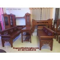 Bộ ghế trường kỷ gỗ gụ dogodongky.net.vn TK55