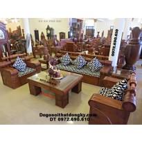 Bộ bàn ghế phòng khách gỗ hương mẫu Đài Loan HT60